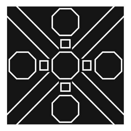 Ornamental paving icon, simple style 矢量图像