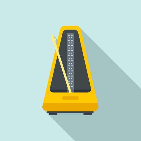 Control metronome icon, flat style