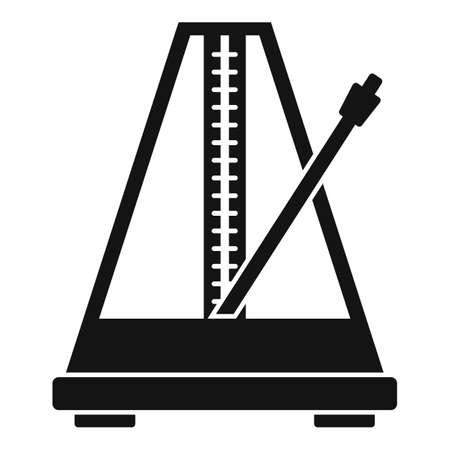 Metronome beat icon, simple style 矢量图像