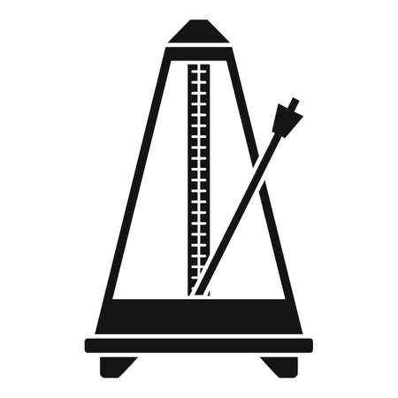 Classic metronome icon, simple style 矢量图像