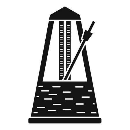 Instrument metronome icon, simple style