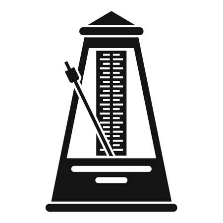 Mechanical metronome icon, simple style
