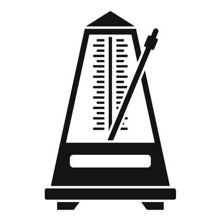 Music metronome icon, simple style