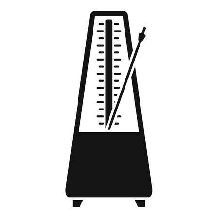 Device metronome icon, simple style 矢量图像