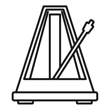 Metronome beat icon, outline style