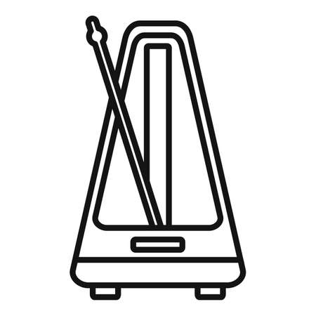 Control metronome icon, outline style