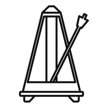 Classic metronome icon, outline style