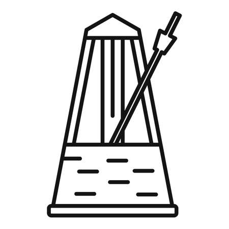 Instrument metronome icon, outline style