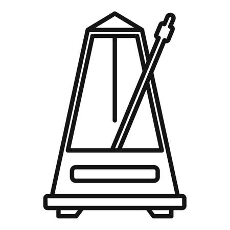 Music metronome icon, outline style