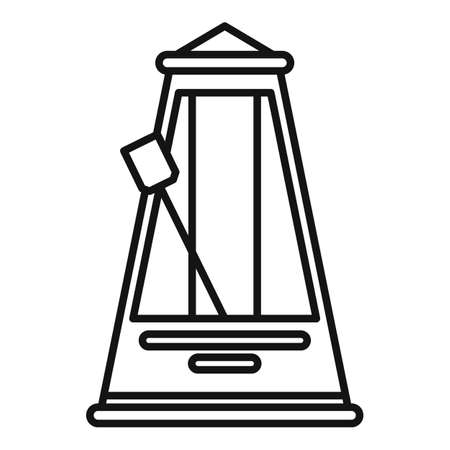 Mechanical metronome icon, outline style