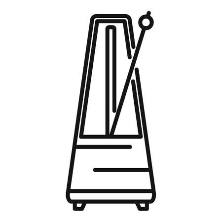 Device metronome icon, outline style