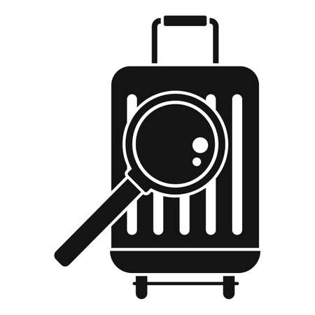 Travel bag control icon, simple style
