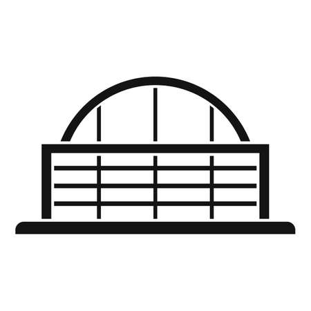 Airport glass building icon, simple style