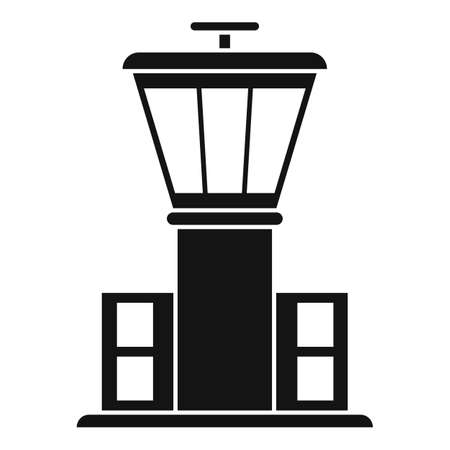 Airport tower icon, simple style