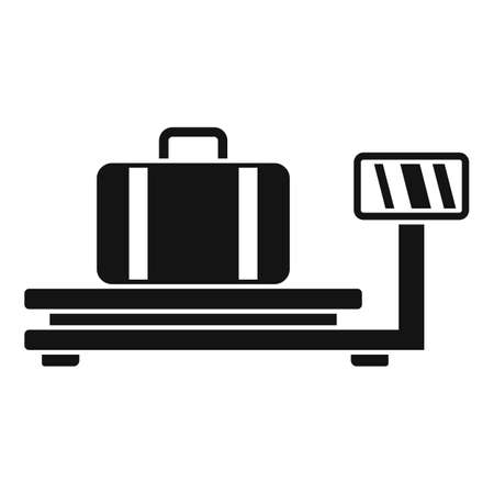 Airport control scales icon, simple style