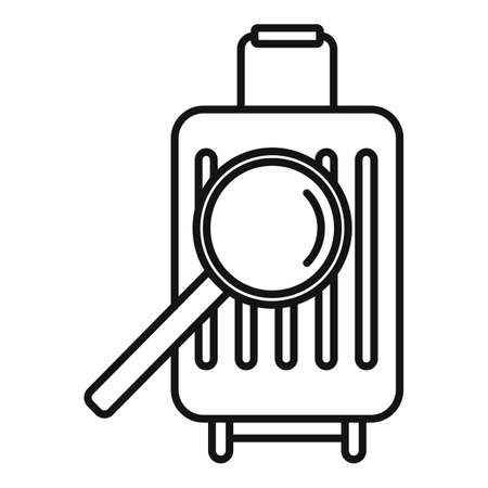 Travel bag control icon, outline style