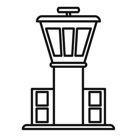 Airport tower icon, outline style