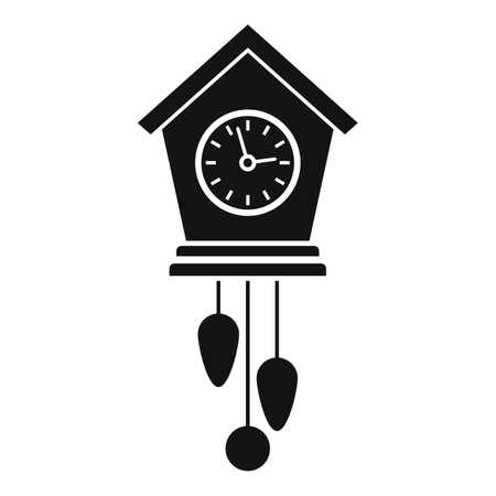 Balance pendulum clock icon, simple style