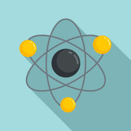 Science gravity icon, flat style