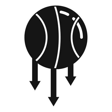 Basketball ball gravity icon. Simple illustration of basketball ball gravity vector icon for web design isolated on white background