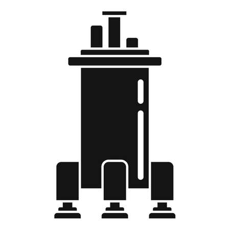 Space ship gravity icon, simple style