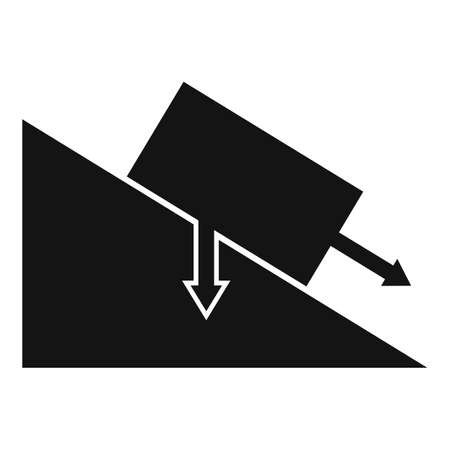 Science angle object gravity icon, simple style 向量圖像