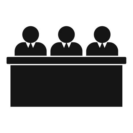 Teacher group business training icon, simple style