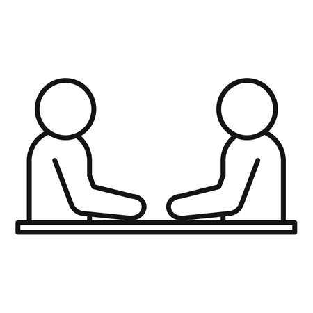 Business training cooperation icon, outline style