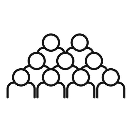 Group business training icon, outline style Stock Illustratie