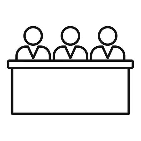 Teacher group business training icon, outline style