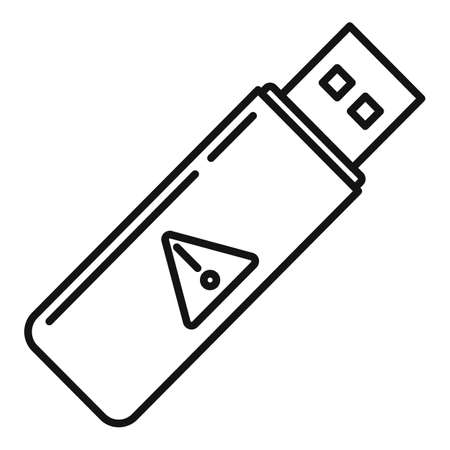 Fraud usb flash icon, outline style