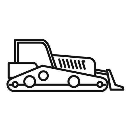 Road bulldozer icon, outline style