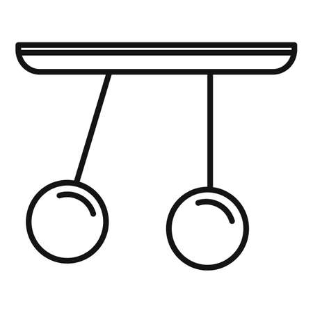 Gravity sphere stand icon, outline style