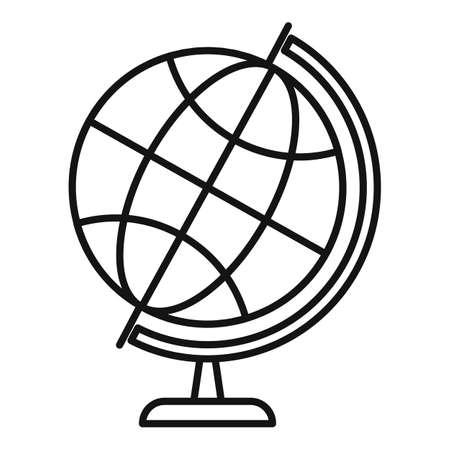 School globe icon, outline style