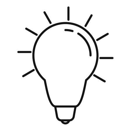 Newton idea bulb icon, outline style