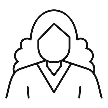 Newtons person icon, outline style