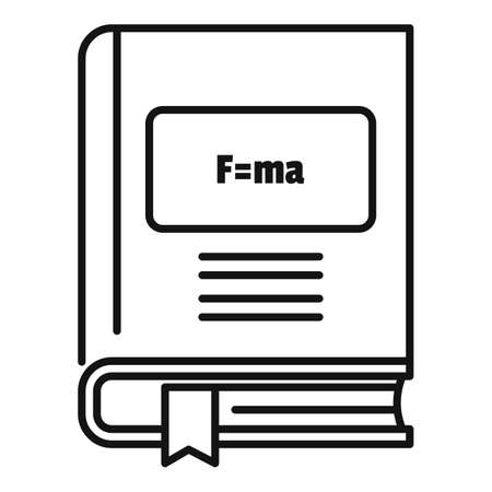 Newton force book icon, outline style
