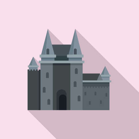 France castle icon, flat style