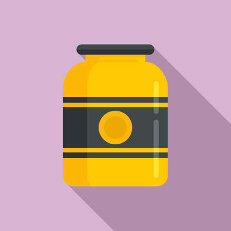French honey jar icon, flat style
