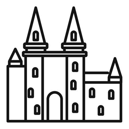 France castle icon, outline style