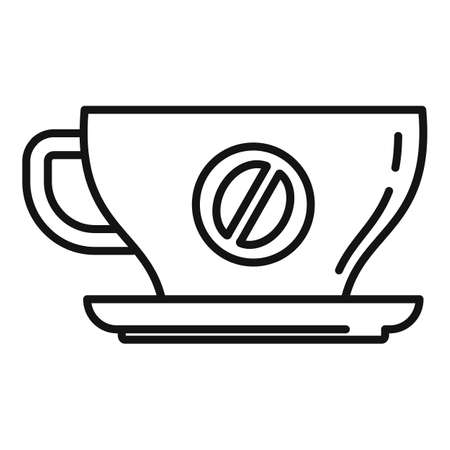 French coffee cup icon, outline style