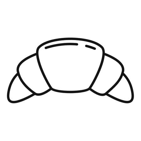 French croissant icon, outline style