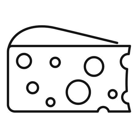 French cheese icon, outline style Иллюстрация