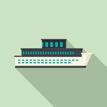 Sea cruise icon, flat style