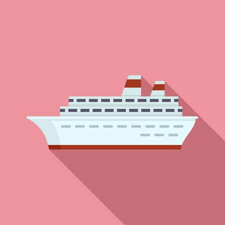 Voyage cruise icon, flat style