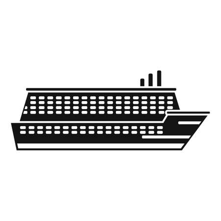 Industry cruise icon, simple style