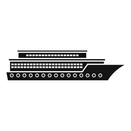 Vacation cruise icon, simple style