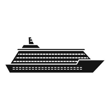 Ocean cruise icon, simple style