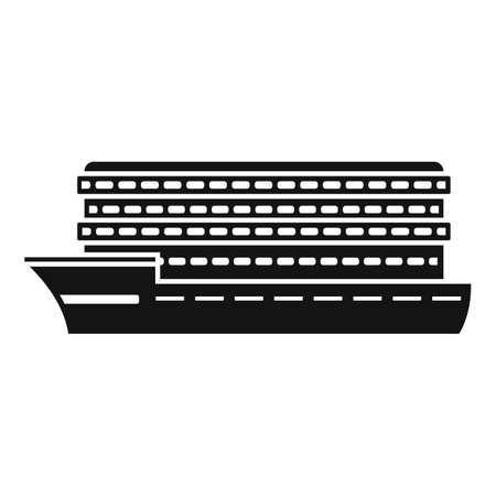 Passenger cruise icon, simple style Çizim