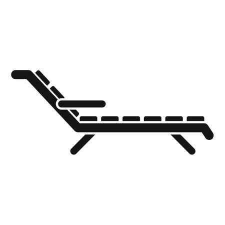 Cruise beach chair icon, simple style